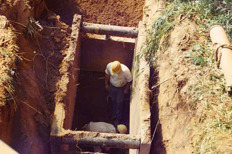 Old Clay Sewer Line – New Install – Anjo Construction